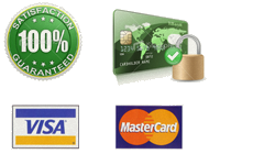 Our online secure ordering system uses SSL Encryption | 100% Satisfaction guarantee